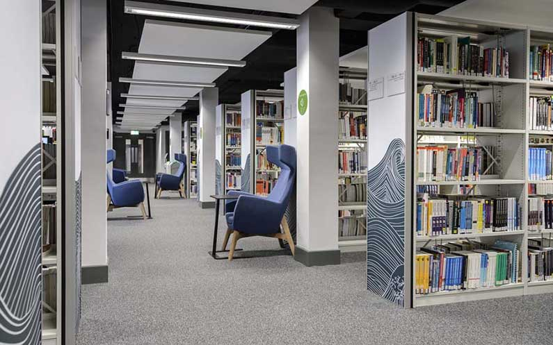 University of West London Library - Sysco® - Bruynzeel Storage Systems