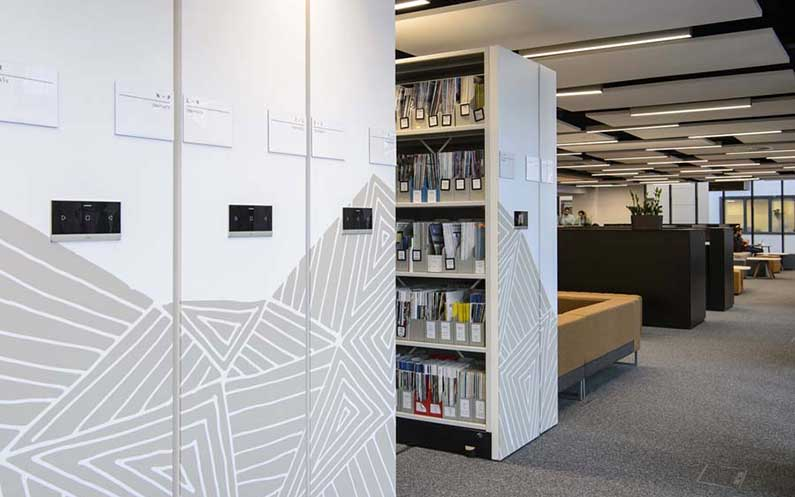 University of West London Library - Compactus® Dynamic XTR - Bruynzeel Storage Systems